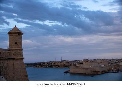 Malta at dusk - view of Saint Elmo fort