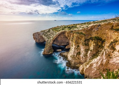 Malta - The famous arch of Blue Grotto