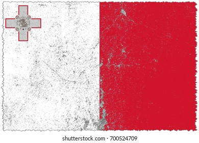 Malta flag grunge background. Background for design in country flag