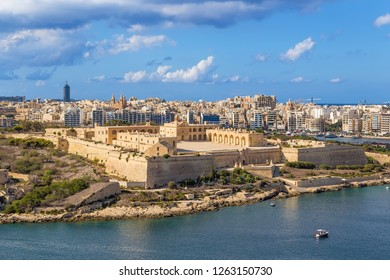 Malta. Manoel Island and the fort of the same name, 1733