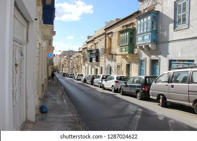 """Malta, Sliema - January 05, 2019: The city located on the north coast is the main residential and commercial zone of the island and is translated as """"particle, comfort"""""""