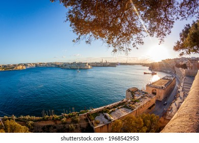 Malta - Valletta harbour under the sun - Shutterstock ID 1968542953