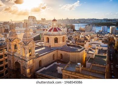 Malta - Valletta sunset from sliema - Shutterstock ID 1968545086