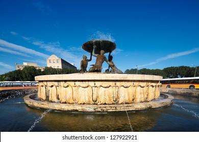 Malta's Triton fountain, Valletta, Malta