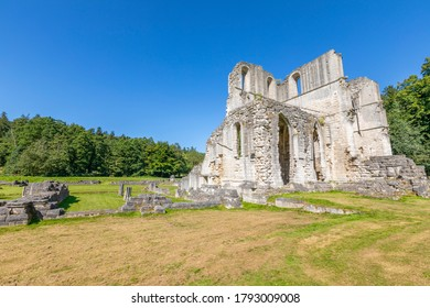 Maltby Rotherham, England - August 7 2020: The ruins of Roche Abbey, a 12th Century monastery in Maltby near Rotherham.