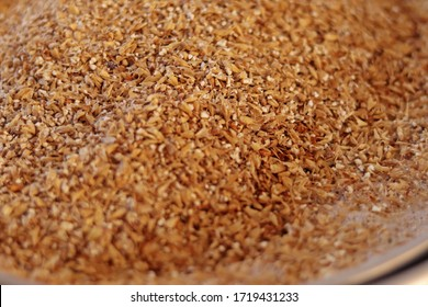 Malted barley during mashing process in homebrew equipament