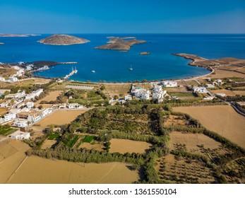 Maltezana beach in Astypalaia island Greece aerial view