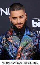 Maluma at the 2019 Billboard Music Awards held at the MGM Grand Garden Arena in Las Vegas, USA on May 1, 2019.
