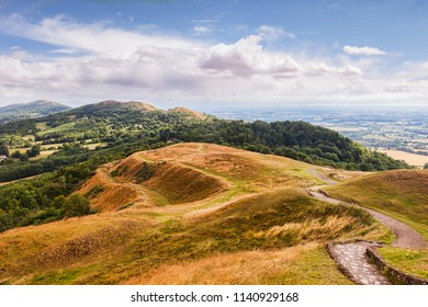 The Malvern Hills from British Camp, Herefordshire and Worcestershire, England