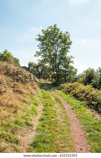 Malvern hills scenery in the countryside of England.