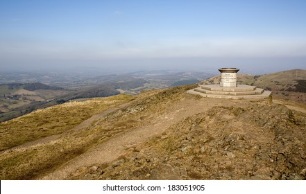 Malvern Hills Toposcope. The granite toposcope at the summit of the Worcestershire Beacon, Malvern Hills, UK, built to commemorate Queen Victoria's Diamond Jubilee in 1897.