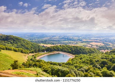 Malvern reservoir, Malvern Hills, Herefordshire and Worcestershire, England