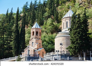 mam daviti church at Mama Daviti. Mtatsminda tbilisi georgia