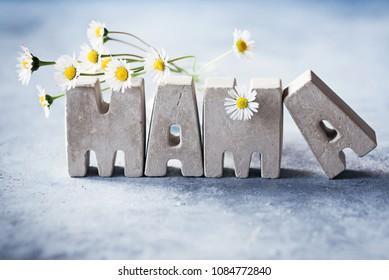 Mama - Grußkarte zum Tag der glücklichen Mütter