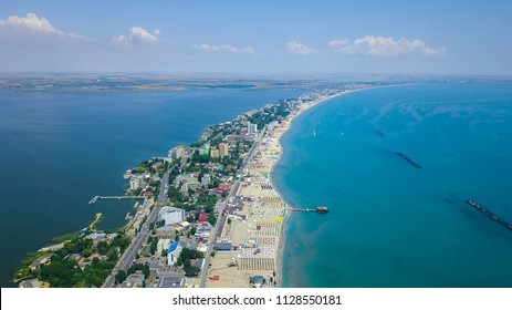 Mamaia lies on a strip of land 8 km in length and only 300 m in width, between the Black Sea and Lake Siutghiol.