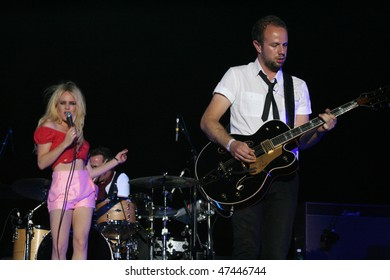MAMAIA, ROMANIA - JUNE 26: 2009 BRIT Awards Winner, Duffy in concert on June 26, 2009 on H2O Beach, Mamaia, Romania.
