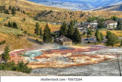 Mammoth Hot Springs, Yellowstone National Park.