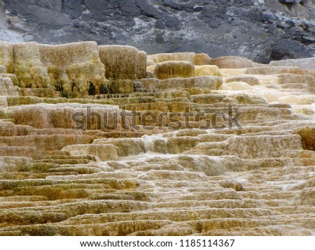 Mammoth Hot Springs Yellowstone National Park Stock Photo (Edit Now