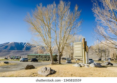 Mammoth Lakes, CA / USA - 03-27-2015: Mammoth Yosemite Airport is a town-owned public airport seven miles east of Mammoth Lakes, in Mono County, California.