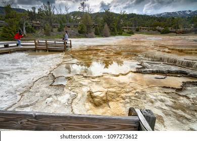 Mamoth hot springs in Yellowstone National Park