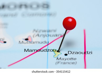 Mamoudzou pinned on a map of Africa