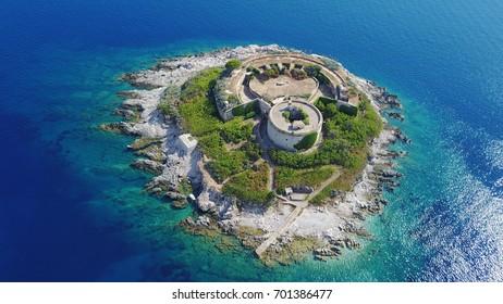 Mamula island bird-view, Boka Kotorska, Montenegro
