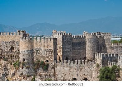 Mamure Kalesi (Castle) in Anamur, Turkey
