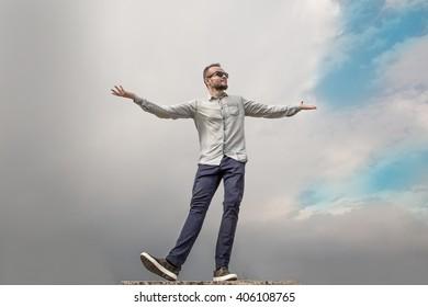 The man against the sky.