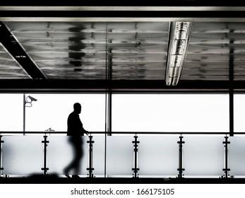 A man at the airport