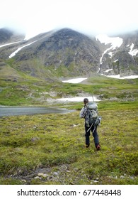 Man in Alaskan back-country