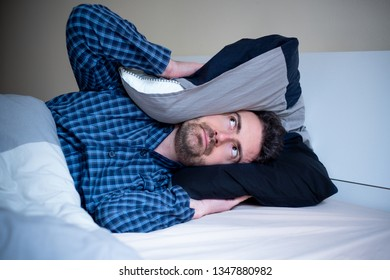 Man angry because noise at night and can't sleep