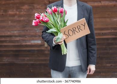 Man apologizing