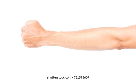 Man arm skin with blood veins on white background, health care and medical concept