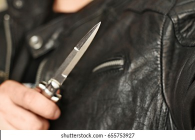 man attack with knife photomanipulation