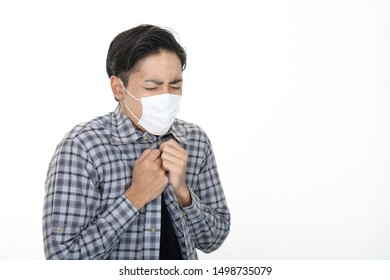 Man in bad condition having flu.