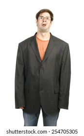 Man in Baggy Business Suit
