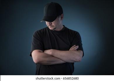Man in the baseball cap