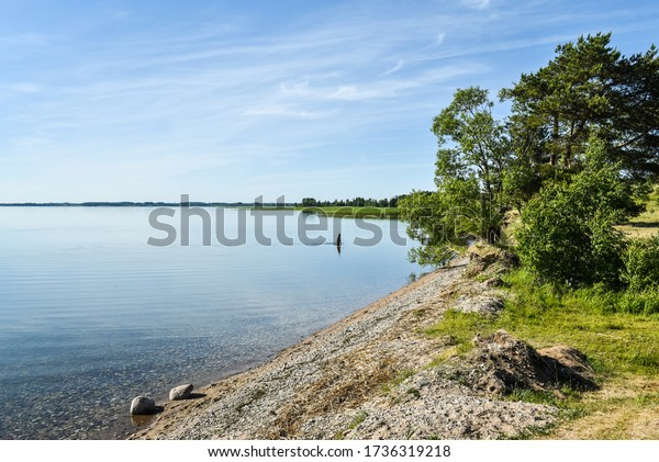 man-bathes-summer-on-lake-600w-173631921