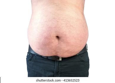 man, bear belly, overweight