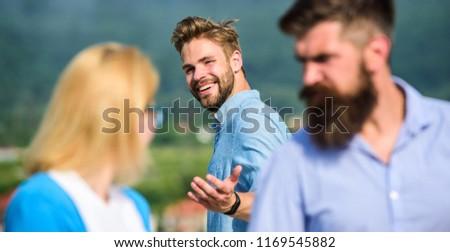 Man with beard jealous