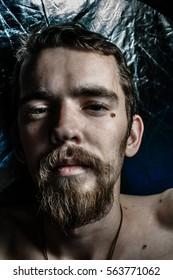 Man with beard, portrait close