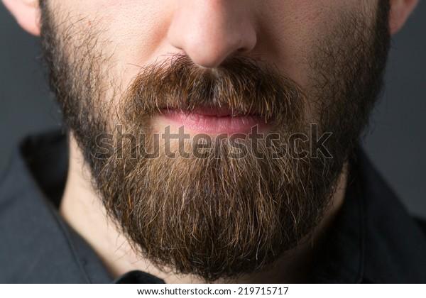 Man with beard. Short deep of field