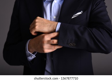 man with beard wearing elegant clothes tie, shirt and jacket tailor-made