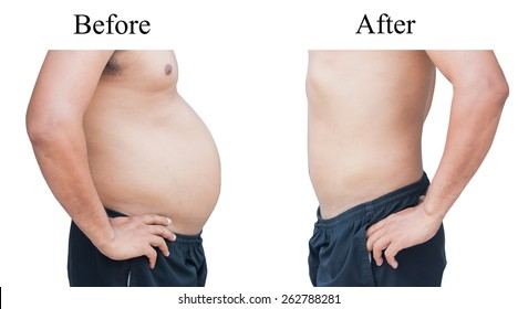 man before and after fat loss.