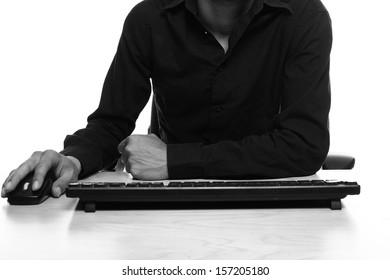 Man behind his desk