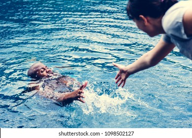 Drowning Man Images, Stock Photos & Vectors | Shutterstock