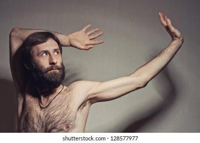 The man with a big beard