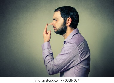 man with the big nose, lie concept