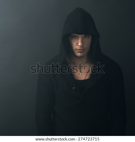 man in a black