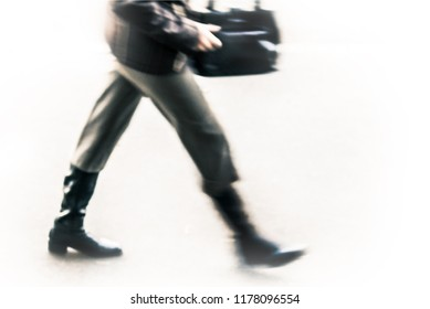man in blurry walking, isolated
